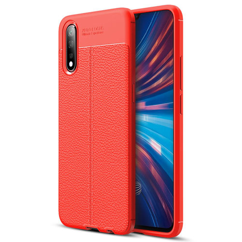 Flexi Slim Litchi Texture Case for Vivo S1 - Red